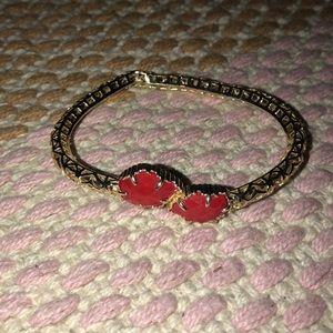 Kendra Scott Red Jeweled bracelet